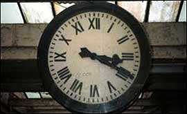 The Carnforth clock - saved from the scrapheap.