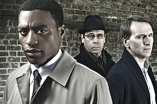 From left to right: DCI Gabriel (Chiwetel Ejiofor), Gatehouse (Stephen Rea), Joseph Bede (Christopher Ecclestone)