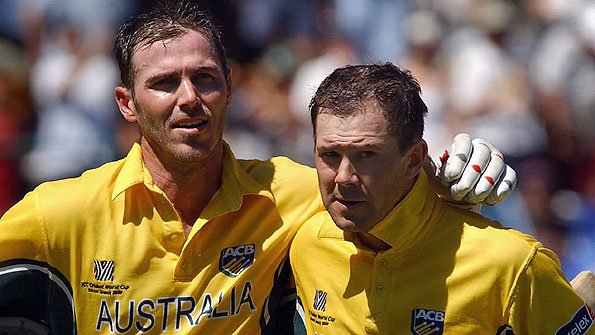 Damien Martyn and Ricky Ponting, Johannesburg, 2003