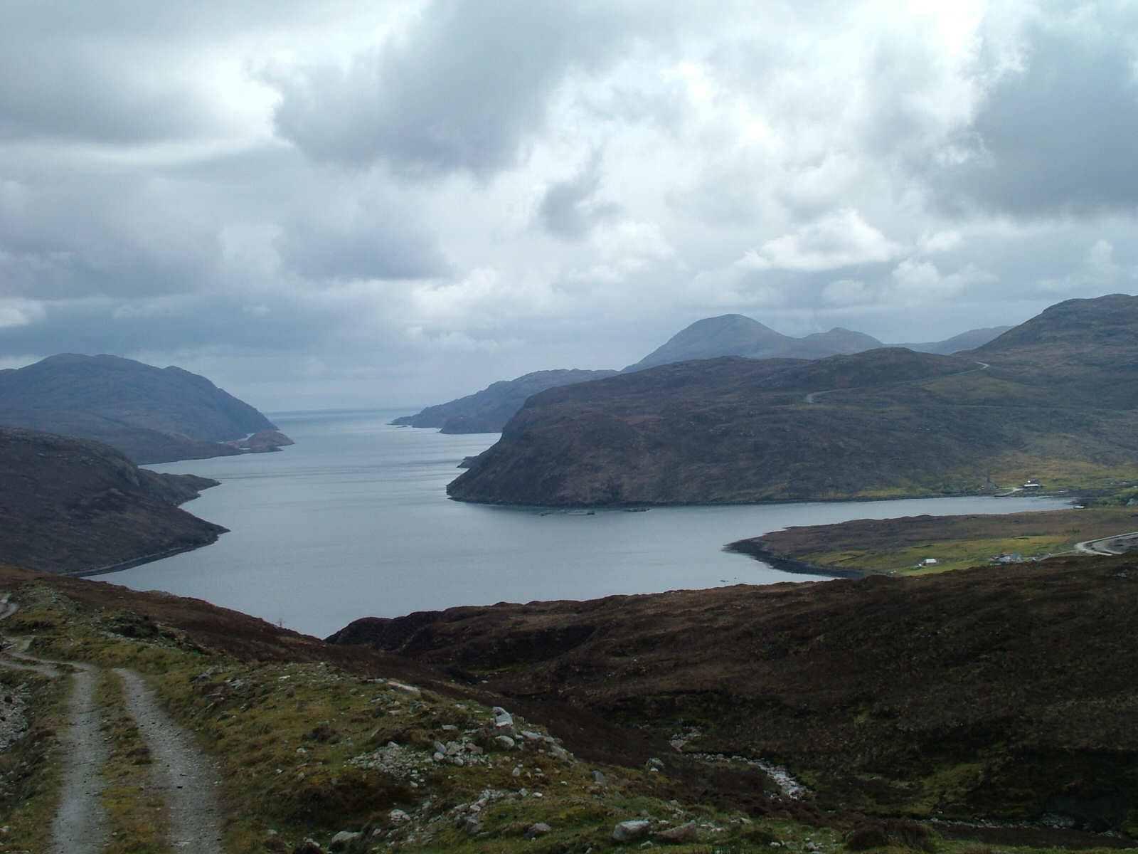 View down Loch Seaforth from Aline
