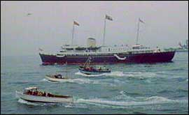 Royal Yacht Britannia in Torbay 1969