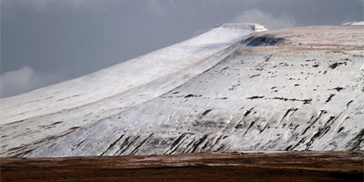 Pen y Fan with a dusting of snow by Mike Davies.