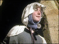 Actor dressed as 12th century nun