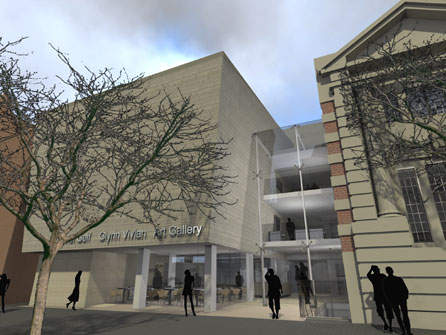 Artist's impression of the revamped Glynn Vivian Art Gallery. Image © Powell Dobson Architects