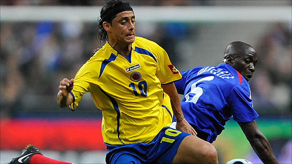Giovanni Hernandez has played 35 matches for Colombia, scoring five times