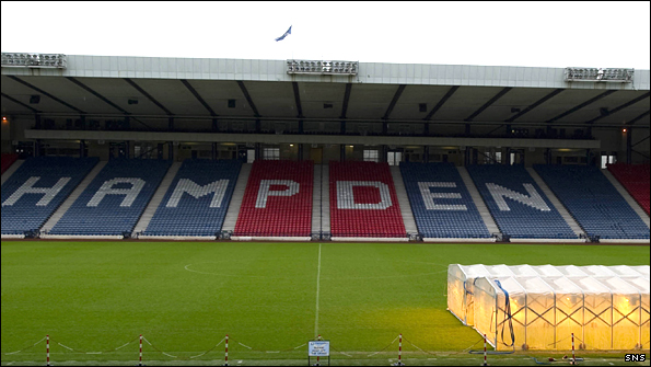Hampden Stadium, where Jack and his St Mirren team-mates hope to win the Co-operative Insurance Cup final by beating Rangers