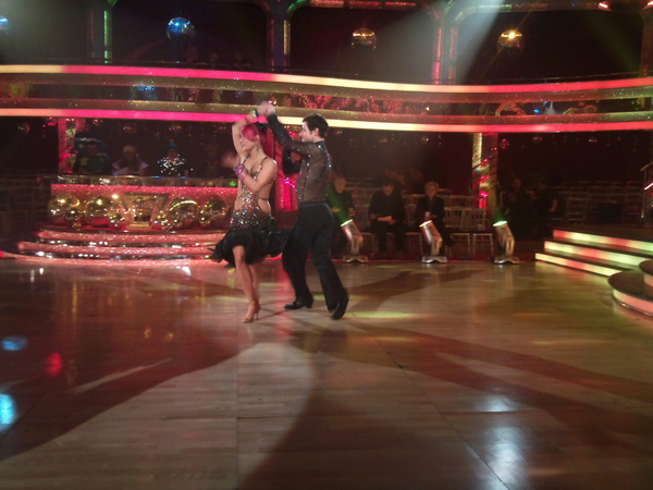 Matt and Aliona's dress rehearsal