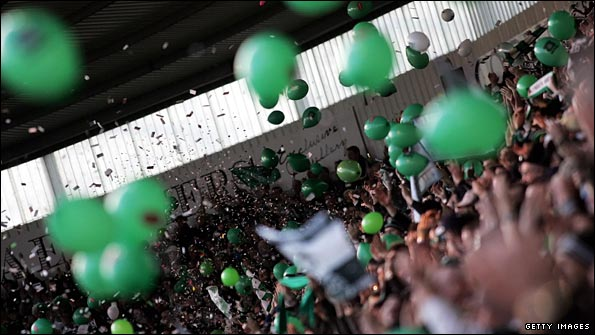 Happier times at Home Park