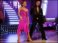 BBC Breakfast News presenter Natasha Kaplinsky and professional dancer Brendan Cole in the dance competition 'Strictly Come Dancing'