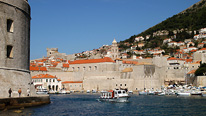 Brovnik general viewn copyright BBC / Fred Adler. Dubrovnik, in Croatia, is one of the most popular tourist destinations off the Adriatic Sea.