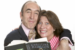 Michael Mears as Neil Hamilton and Caroline Quentin as Christine Hamilton in Life After Scandal by Robin Soans. Photograph by Manuel Harlan