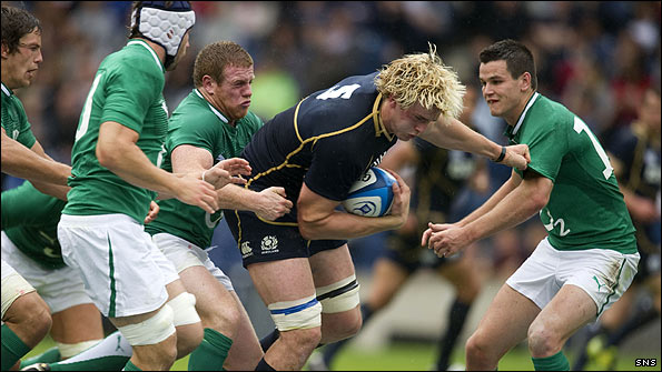 Richie Gray was an impressive performer for Scotland against Ireland
