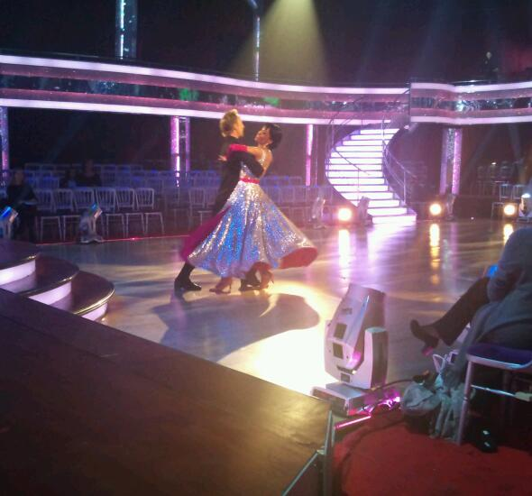 Michelle Williams and Ian Waite in Strictly Come Dancing Dress Rehearsals