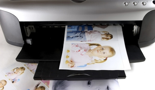 inkjet printer printing photo quality pictures