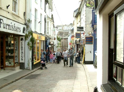The streets of St Ives