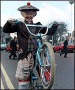 Supergran on her bike