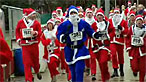 Photograph of Santa Runners