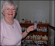 Ann with some of her egg cups