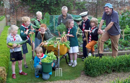 1st Cromer Sea Scouts show off their Dig In veg