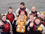 Greenock Sea Cadets with Children in Need mascot Pudsey