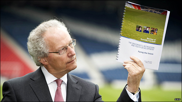 Former First Minister Henry McLeish has made 53 recommendations in the first part of his Scottish Football Review