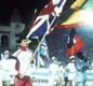 At the 1984 Los Angeles Olympics Coe led the Great Britain team into the stadium.