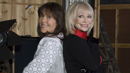 (L-R) Elisabeth Sladen as Sarah Jane Smith and Katy Manning as Jo Grant in the Sarah Jane Adventures