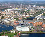 Aerial picture of Cardiff