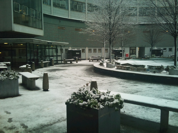 Snow at BBC TV Centre