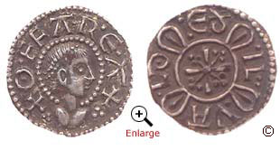A Silver Penny From The Reign Of Offa King Mercia 757 796 Minted In London Around 785