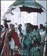 Haile Selassie in a royal procession