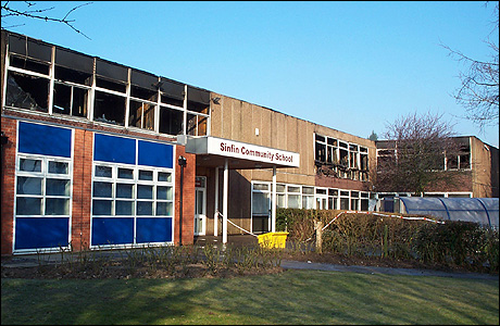 Bbc Derby In Pictures Sinfin Community School Fire
