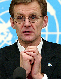 Jan Egeland, UN emergency relief co-ordinator