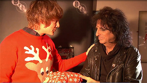 Jamie Stangroom and Alice Cooper