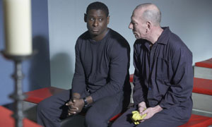 David Harewood as Freddy (left) and Pete Postlethwaite as Hooch