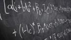 An equation on a blackboard