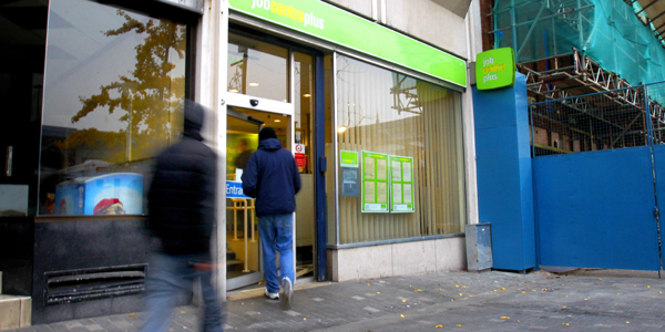 Youths entering a job centre
