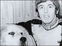 Peter and his dog Fune McCool