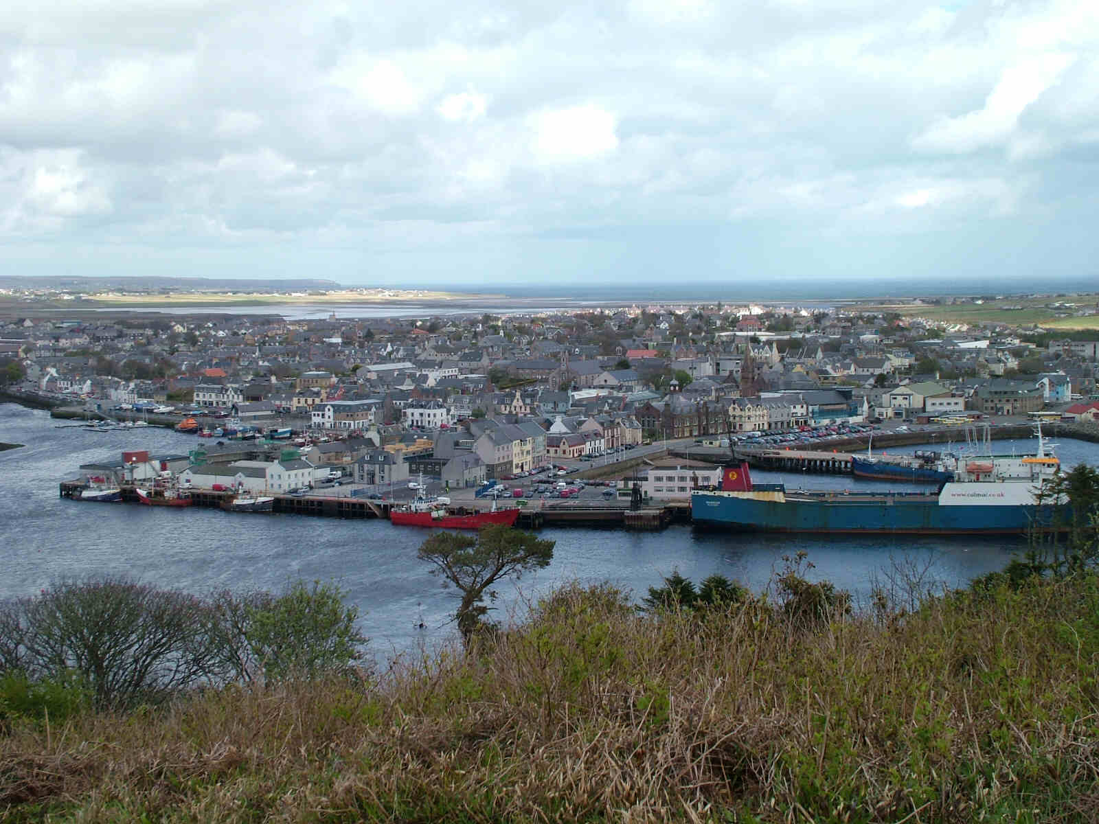 View of Stornoway; MV Muirneag to the right