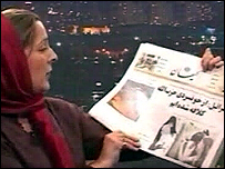 Frances Harrison, the BBC's correspondent in Tehran