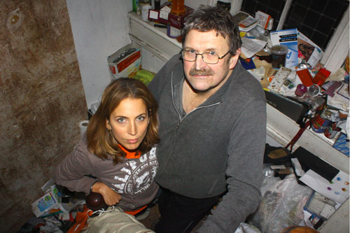 Jasmine Harman and Richard Pout at Richard's home