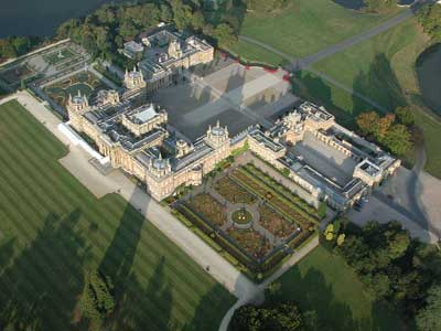 Robin Batchelor took this picture of a Blenhiem Palace from a balloon when he landed he says,