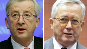 Jean-Claude Juncker and Giulio Tremonti