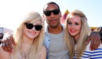 Reggie Yates with Pixie Lott and Diana Vickers