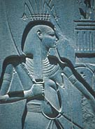 The Nile god Hapy, from a statue of Ramesses II in the temple of Luxor