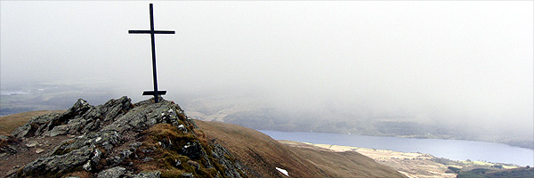 The summit of Ben Ledi, a small mountain in the Trossachs about an hour's drive north of Glasgow