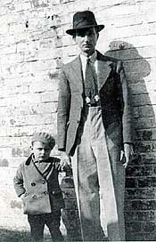 Wilson John Haire with his father in 1936
