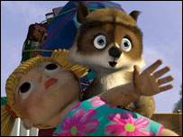 Scene from Over the Hedge - copyright DreamWorks