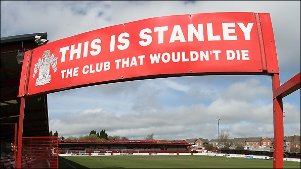 Accrington Stanley play at the Crown Ground.