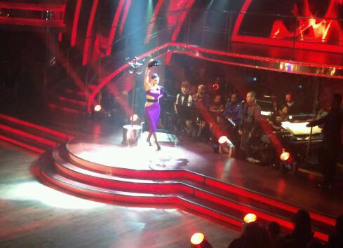 Kara Tointon in the Strictly dress rehearsal